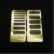 Rings 0.3-1.0/0.1mm & 1.1-1.5/0.15mm
