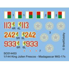 King Julien Frescos - Madagascar MiG-17s