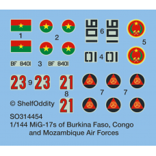 MiG-17s from Burkina Faso, Congo and Mozambique